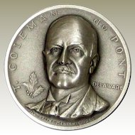 Medallic Arts Silver Statehood Medal - Coleman DuPont of Delaware