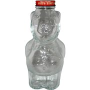 New England Syrup Glass Pig Piggy Bank