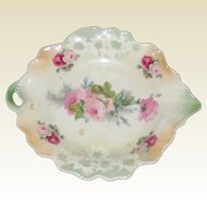 Porcelain Candy or Trinket Dish with Roses - Made in Germany