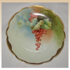 Hand Painted Rosenthal Bavaria Plate with Red Currants