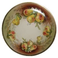 O. & E. G. Royal Austria Hand Painted Plate with Pears
