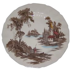 """Johnson Brothers Old Mill 10 1/4"""" Dinner Plate"""