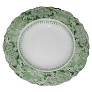 W. H. Grindley Green Transferware Plate in the Atlantic Pattern