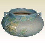 Roseville Blue Columbine Vase #655-3