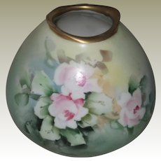 Hand painted R.S. Germany Vase with Pink Roses, Signed