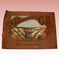 Antique Travelog Photo & Postcard Album Yosemite - circa 1930 - Leather Cover