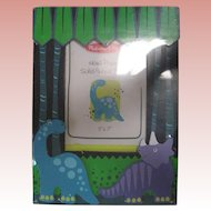Cute Wooden Children's Photo Frame with Dinosaurs