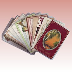 Twelve Birthday and Greeting Postcards from the Early 1900's - Flowers, Scenes and Figures