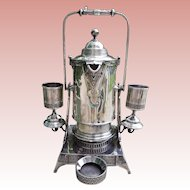 Victorian Reed & Barton Silver Plated Tilting Water Pitcher with Two Goblets - Circa 1870