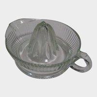 Vintage Reamer or Citrus Juicer by Federal Glass