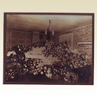 Post Mortem Photo of a Young Woman in a Casket, Surrounded by Flowers - Circa 1910 - 1920