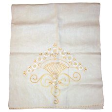 1930's Hand Embroidered Flour Sack Tea Towel