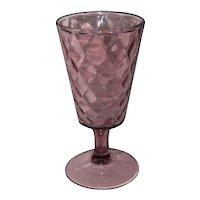 EAPG Bryce Amethyst Venetian Diamond Goblet - Pattern No. 1000