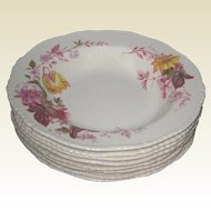 "Eight Wood's Burslem ""Falmouth"" Rimmed Soup Plates - 1930-1935"