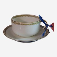 Haviland Albany Porcelain Cup and Saucer Set - Schleiger 107A