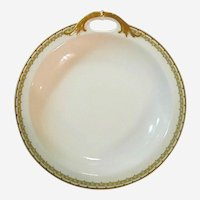 """Haviland Albany Porcelain 9"""" Bowl with Decorative Handle - Schleiger 107A"""