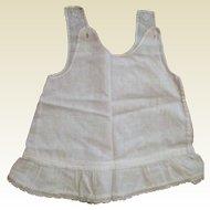 Handmade Child's or Infant's Cotton Slip with Ruffled Bottom - Circa 1900