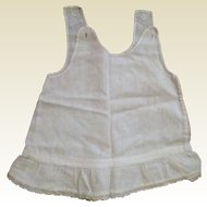 Handmade Child's or Infant's Cotton Slip with Ruffled Bottom - Circa 1900