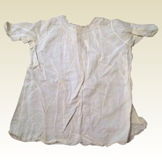 Antique Child or Infant Cotton Dress circa 1900 - Embroidery, Handmade