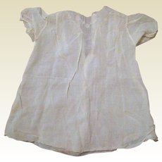Hand Made Infant or Child's Cotton Dress with White on White Embroidery - Circa 1900