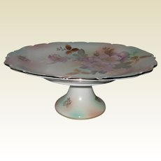 Schumann Arzburg Bavaria Pedestal Cake Stand in the Wild Rose Pattern
