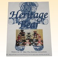 Vintage Heritage Bear Sewing Pattern for Patchwork Teddy Bears - Unused and Uncut