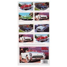 50's Sporty Cars - New Package of Twenty 37-Cent Collectible US Postage Stamps