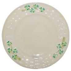 "Belleek Shamrock Porcelain 6 1/2"" Sandwich or Luncheon Plates - 4th Mark 1946 - 1955"