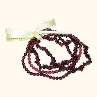 Set of Natural Garnet Gemstone and Crystal Stretch Bracelets