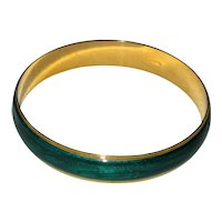 Green Enamel Avon Bangle Bracelet