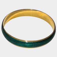Green Enamel Avon Bangle Bracelet