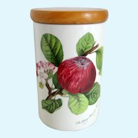 "Portmeirion Pomona ""Hoary Morning Apple"" 7 1/8"" Canister Storage Jar"