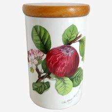 "Portmeirion Pomona ""Hoary Morning Apple"" 7 1/8"" Canister Storage Jar"