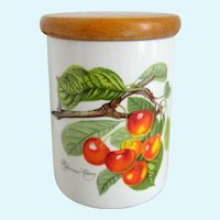 "Portmeirion Pomona ""Biggarreux Cherry"" 5 1/2"" Canister Storage Jar"