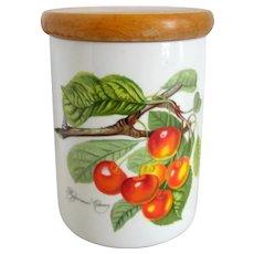 "Portmeirion Pomona ""Biggarreux Cherry"" 5 1/2"" Canister Storage Jar"