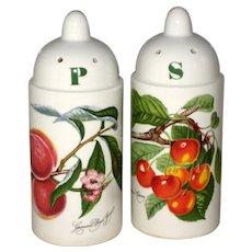 Portmeirion Pomona Salt and Pepper Set - Grimwoods Royal George Peach and Biggerreaux Cherry