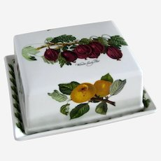 """Portmeirion Pomona """"Wilmot's Early Red"""" Gooseberry  Large Covered Butter or Pate Dish"""
