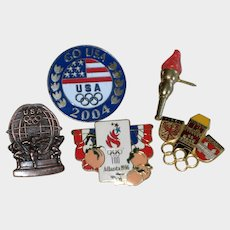 Collection of Five Olympic Lapel or Hat Pins