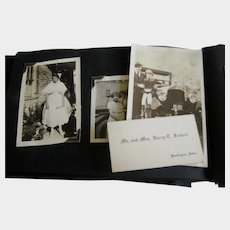 1921 - 1922 Photo Album with WWI Soldiers, Bathing Suits, Old Cars, Fishing
