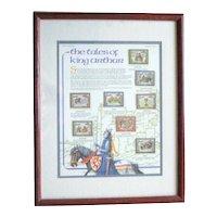 Framed Tales of King Arthur Stamp Series - St. Vincent 1987