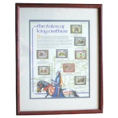 Framed Tales of King Arthur Stamp Series - St. Vincent 1987
