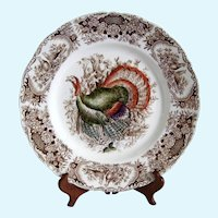 Johnson Bros.  Windsor Ware Wild Turkey Dinner Plate