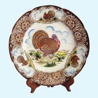 """Maruta Turkey 10 1/2"""" Dinner Plate - 1950's Japan"""