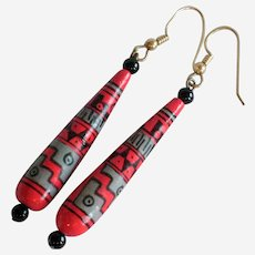 Aztec Inspired Drop Earrings from Mexico