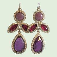 Bollywood Inspired Purple Drop Earrings
