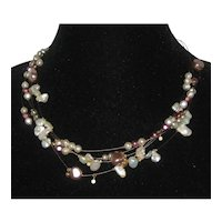 Chico's Illusion Floating Pearl Necklace