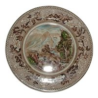 Johnson Bros.  Historic America Bread and Butter Plate - Covered Wagons Crossing the Rocky Mountains