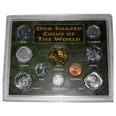 Odd Shaped Coins of the World Collection in Plastic Case
