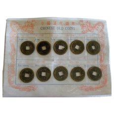 Collection of Old Chinese Coins - Set of Examples