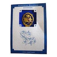 Dogwood Bookmark with 24K  Gold Finish